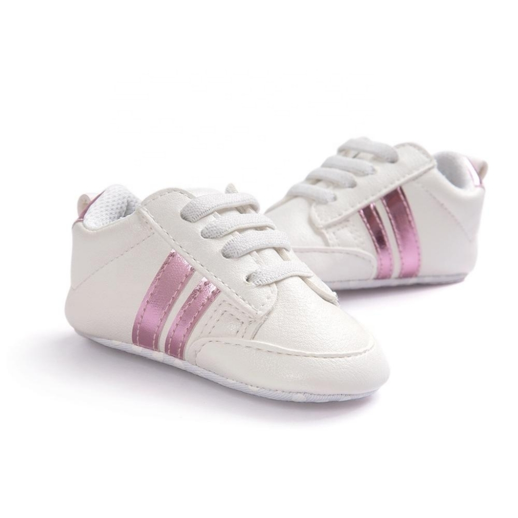 Buy Comfortable White pink Baby Girl Sneakers Shoes for ...